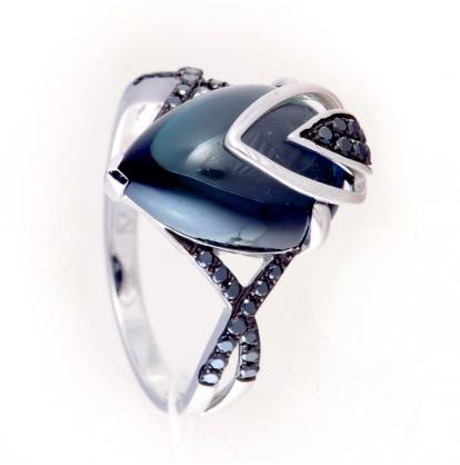 Кольцо с лондонским топазом