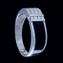 Кольцо с чёрным ониксом