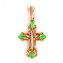 Крест с изумрудами