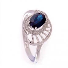 Кольцо с сапфирами и бриллиантами